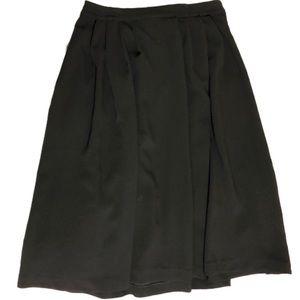 H&M black pleated midi skirt
